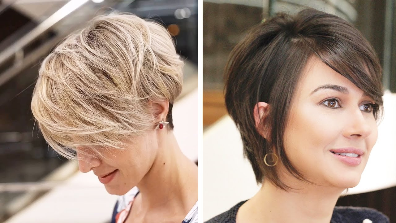 10 Best Short Haircut Styles For Thin Hair New Short Haircut 2020 Women Hairstyle Youtube
