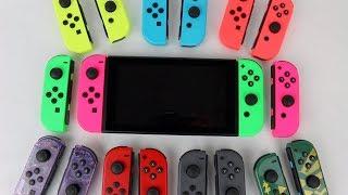 Nintendo Switch Neon Pink (L) & Neon Green (R) Joy-Cons Unboxing