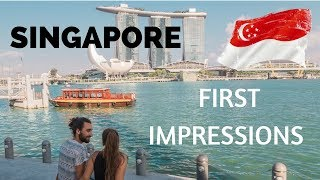 FLYING INTO SINGAPORE - FIRST IMPRESSIONS