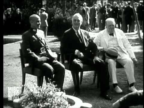Churchill Attends Cairo Conference (Silent)