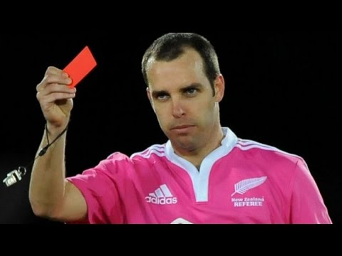 Rugby Referees Compilation #3 - Handing out business cards.