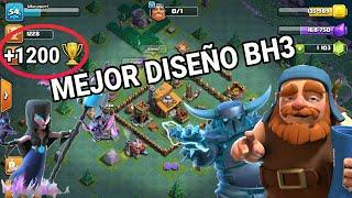 Mejor DISEÑO BH 3(+1200)  Clash of Clans  Taller Constructor BH3  SIN Machacador
