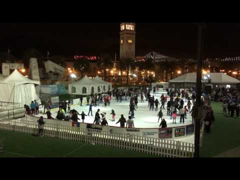 Holiday Ice Rink Embarcadero Center Justin Herman Plaza San Francisco December 2016 (Hyperlapse)