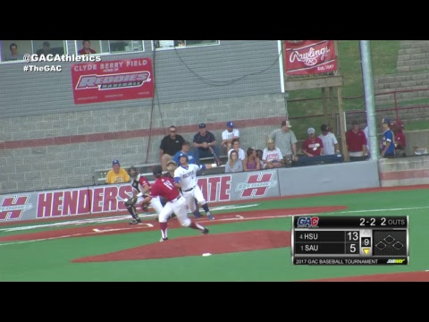 2017 GAC Baseball Tournament : Southern Arkansas vs Henderson State