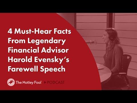 4 Must-Hear Facts From Legendary Financial Advisor Harold Evensky's Farewell Speech