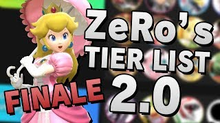ZeRo's Super Smash Bros. Ultimate 2.00 TIER LIST & ANALYSIS - FINALE