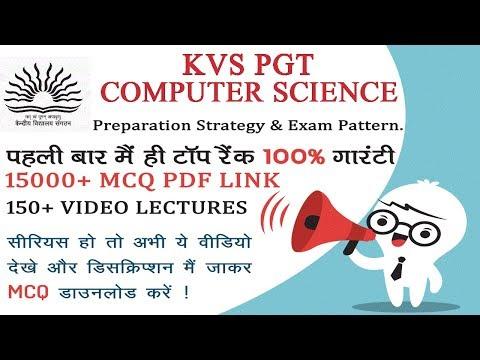 KVS PGT Computer Science 2018 - Eligibility-Syllabus-Exam