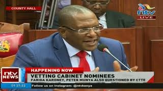 Committee on Appointments vets former DPP Keriako Tobiko (Environment & Forestry CS nominee).