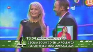 Cecilia Bolocco le copió el vestido a Dominique Gallegos