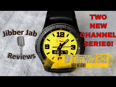 Samsung Gear S3 & Gear Sport TOP FREE Watch Faces! - Jibber Jab Reviews!
