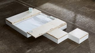 MoreFloor storage solution hides furniture under floorboards | Design | Dezeen
