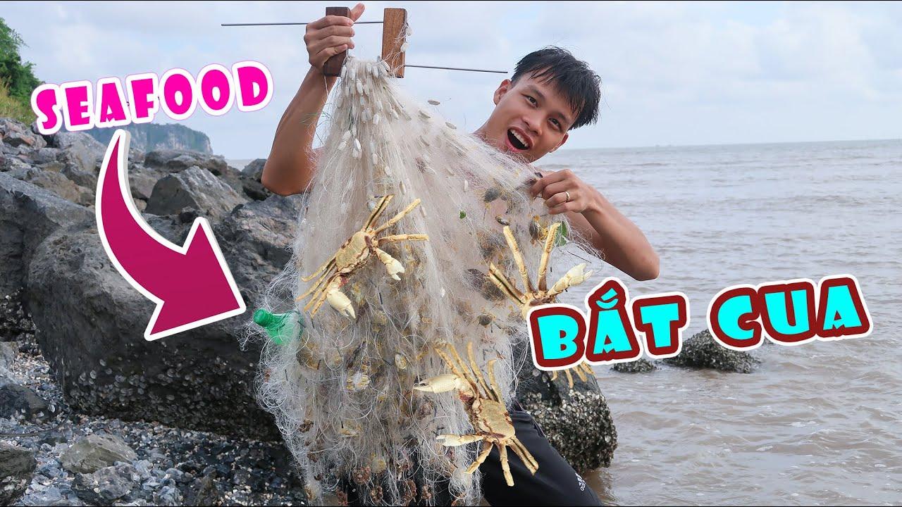 Sea food - CÁNH LƯỚI RÁCH DÍNH HẢI SẢN CHI CHÍT GỠ MỎI TAY - Lạ Vlog