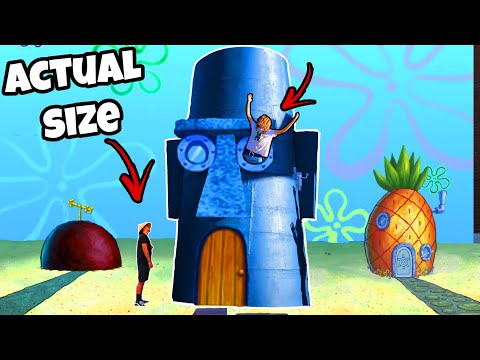 I Built Squidwards House From Spongebob (IN REAL LIFE)