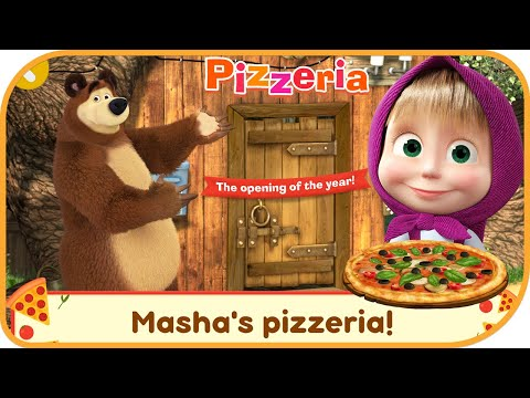Masha and the Bear Pizzeria Game! Pizza Maker Game #1   DEVGAME KIDS games    Pretend Play   Hayday