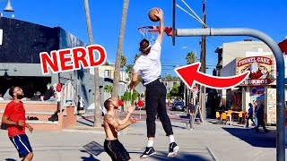 NERD EXPOSES TRASH TALKING STRANGERS IN BASKETBALL!!