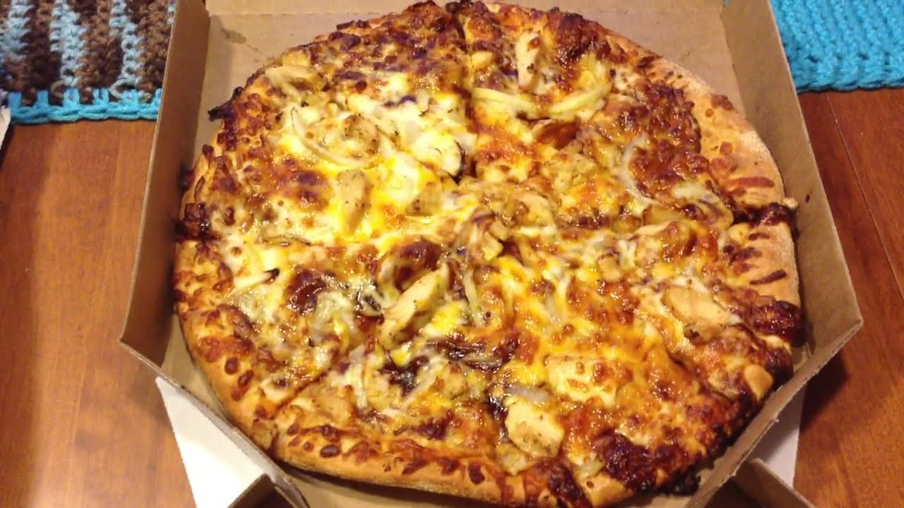 Dominos Bbq Sauce Review: dominos memphis bbq chicken pizza - youtube
