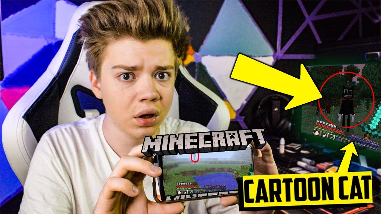 NIGDY NIE SZUKAJ CARTOON CAT w Minecraft o 3 W NOCY..(PRZYSZEDŁ PO MNIE!!!)