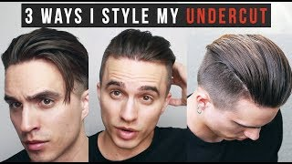 3 Different Ways I Style My Undercut Hair Length Update 1 19 18 Youtube