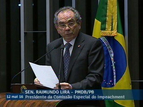 Raimundo Lira diz que vota pela admissibilidade do processo de impeachment da presidente Dilma