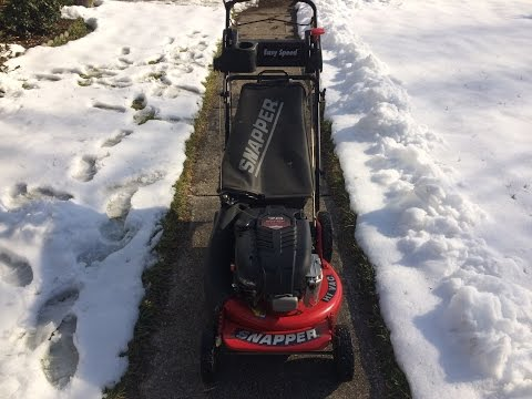 Cold Start in the Snow Troy Bilt XP 21 Inch Lawn Mower 7 ...