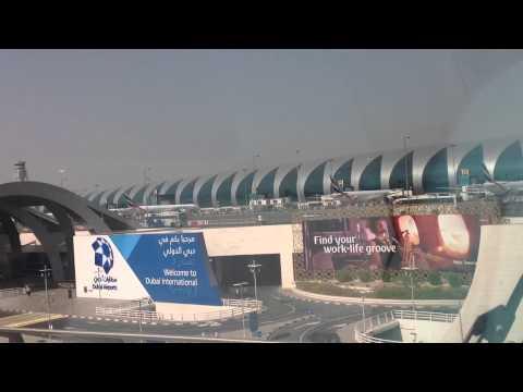 Dubai Airport Terminal 3 from Dubai Metro