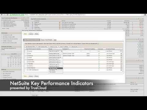 Using NetSuite Key Performance Indicators (KPIs)