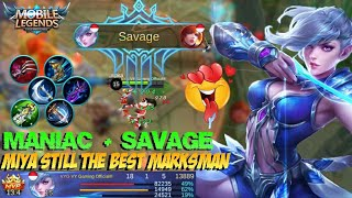 Video SAVAGE + MANIAC!!! MIYA Still the Best Marksman | Gameplay & Build - Mobile Legends Patch 2.08 download MP3, 3GP, MP4, WEBM, AVI, FLV Juli 2018