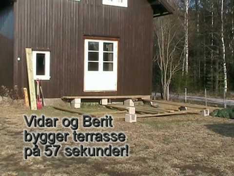 Hvordan bygge en terrasse på 57 sekunder   youtube