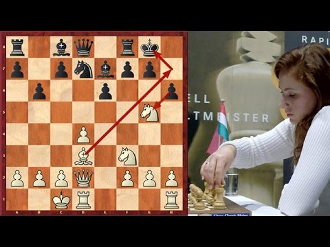 Judit Polgar Destroys French Defense With A Violent Attack