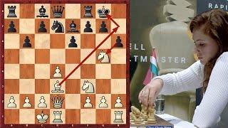 Judit Polgar Destroys French Defense With A Violent Attack