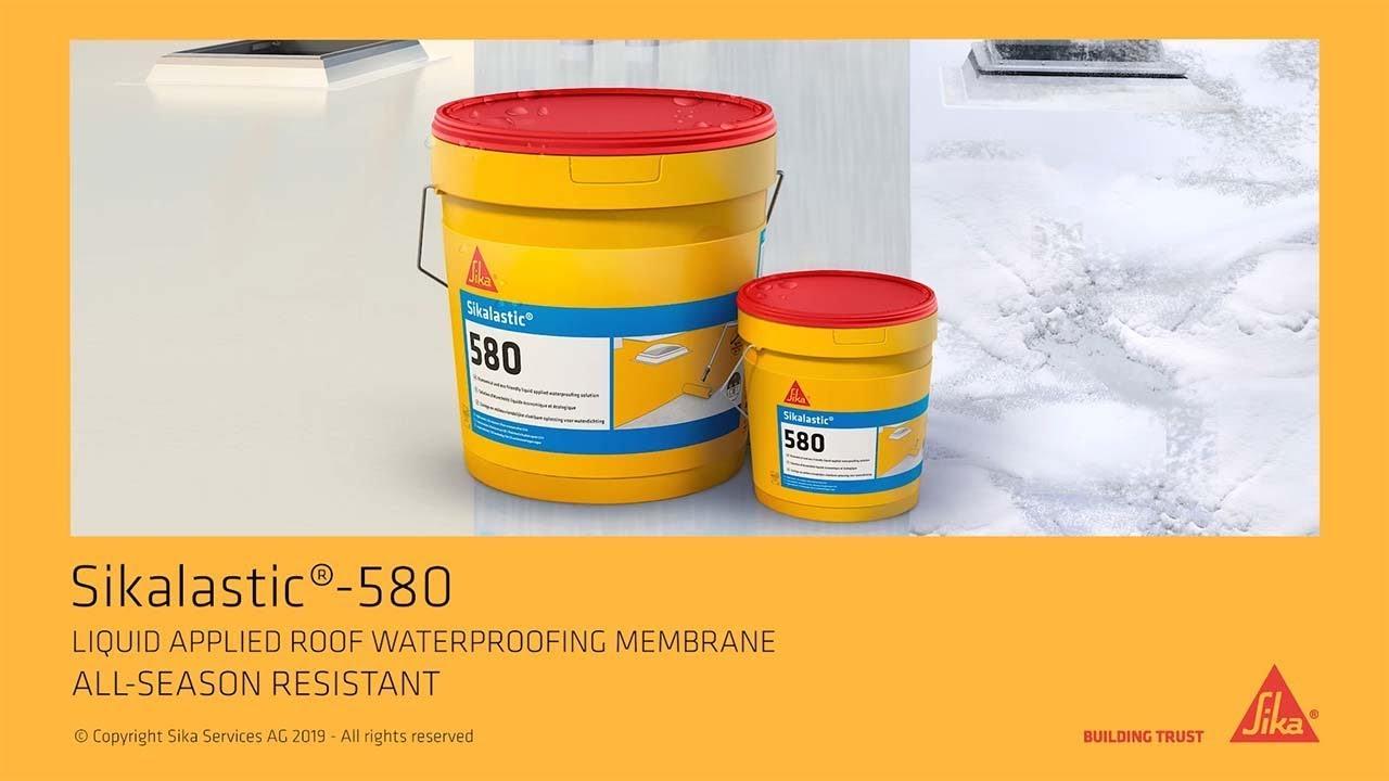 Liquid applied roof waterproofing membrane - Sikalastic®-580