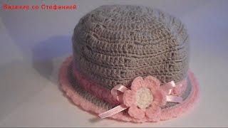 Как связать шляпку Маленькая Парижанка