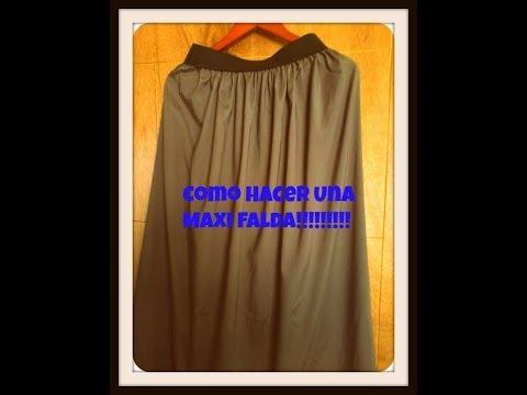 How To Make A Maxi Skirt  DIY Hacer Una Falda Larga