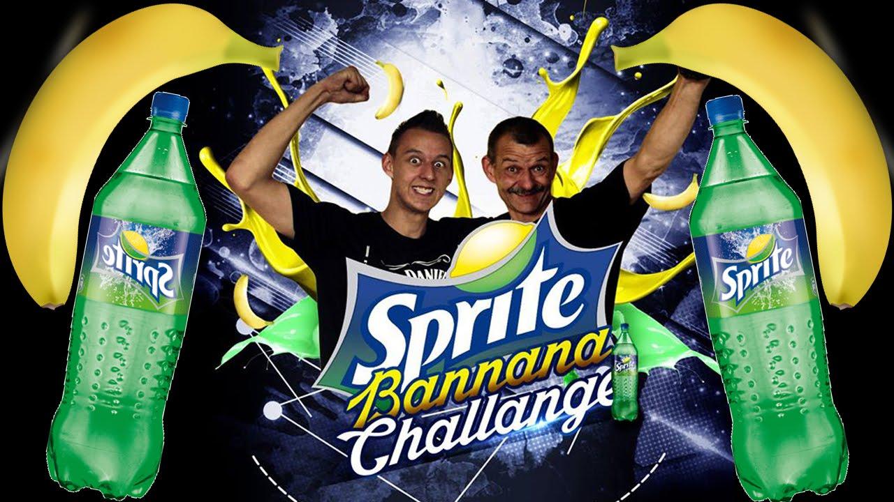 Sprite And Banana Challenge Adam I Tata Youtube