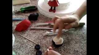 Şeker Hamuru ile Minnie Mouse Yapımı (Minnie Mouse Made with Sugar Dough)