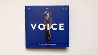 A Rainy Day Unboxing of Onew 온유 1st Mini Album Voice 보이스 (Blue Ver 💙)