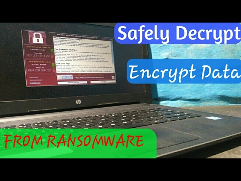 How To Save Files From Wannacry Ransomware V2.O.And HowTo Decrypy ,Encrypted File From RANSOMWARE