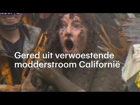 Toch nog redding uit allesverwoestende modderstroom Califormië - RTL NIEUWS
