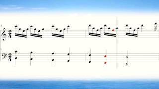 奏でてみようよ329 クシコスポスト ピアノ楽譜 Csikos Post Hermann Necke Piano score