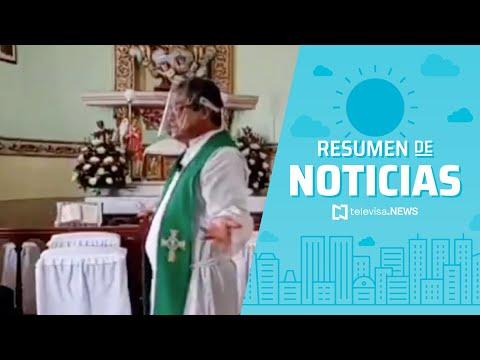 Misa fue interrumpida por una balacera en Guerrero, resumen de noticias matutino