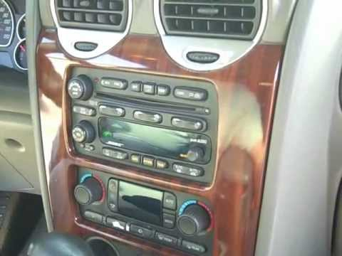 How to GMC Envoy Bose car Stereo radio Removal 2002 - 2005 replace