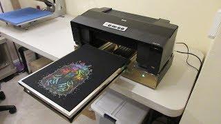 Epson 1430 Nikko DTG V2 Printing On Black T-Shirt