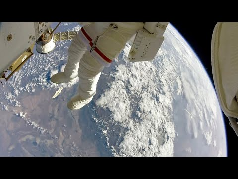 NASA Astronauts Space Walk Outside The ISS