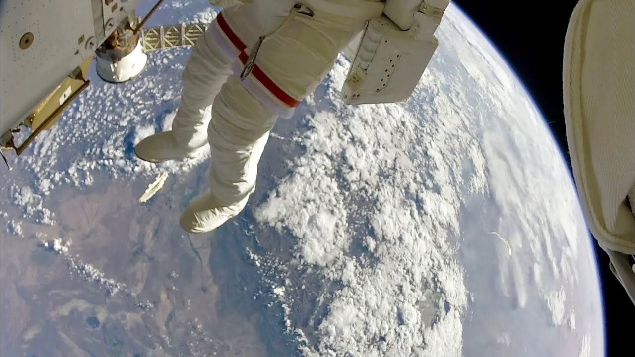 Download NASA Astronauts Space Walk Outside the ISS