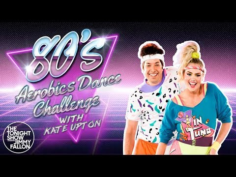 Theresarockface - Kate Upton and Jimmy Fallon Get Sweaty in '80s Aerobics Dance Challenge