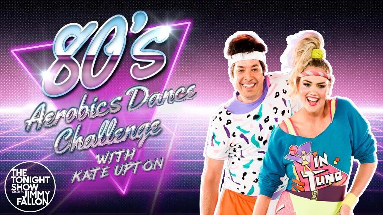 Watch Kate Upton Take on '80s Aerobics Dance Moves on 'Fallon