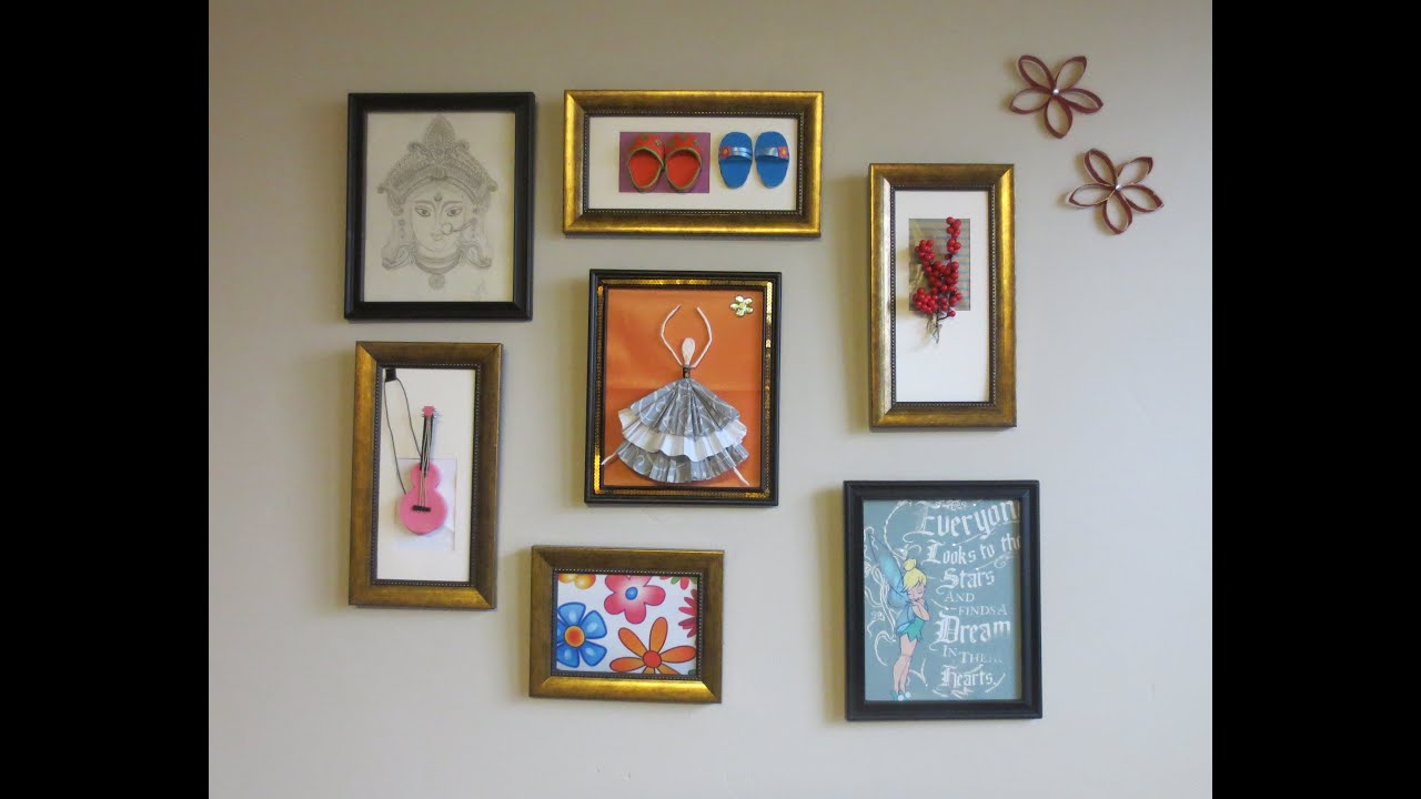 Art And Home Decor Part - 15: Home Decor : Tshirt Graphic U0026 3D Wall Art Picture Frame Collage Ideas -  YouTube