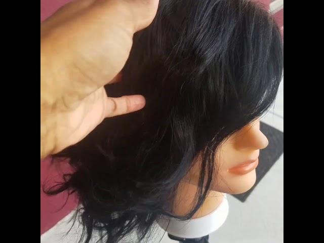 10 inch front lace bob wig-Black
