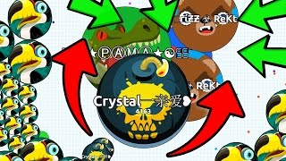 INSANE FAST AGAR.IO TRICKS! AGARIO DOUBLE SPLIT BAIT TRICKS