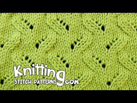 Alternating Leaf Lace Knitting 16 Youtube